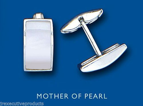 Mother of Pearl Cufflinks Solid Sterling Silver